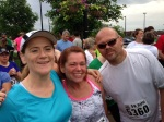 Lined up before the race, Me, Lisa and Tom