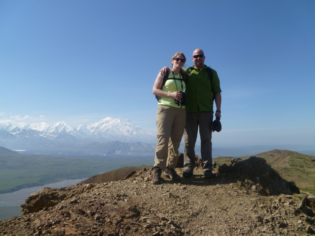 View of Mt. McKinley from top of Thoro Ridge Pass.