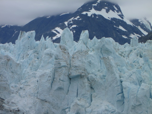 A close-up of Margerie's peaks.