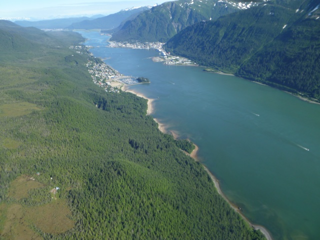 Juneau is on the right, Douglas, AK is on the left.