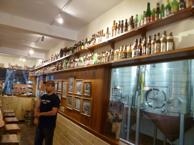 The walls were lined with microbrews from every state. We had no idea there were microbreweries in the Florida Keys!